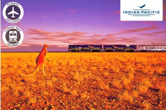 The Indian Pacific – 5 or 6 Day Luxury Rail Package Including Flights for Two