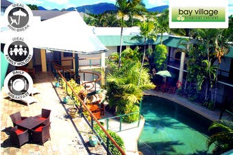 CAIRNS: 2/4 Nights Stay at Bay Village Tropical Retreat & Apartments for Four