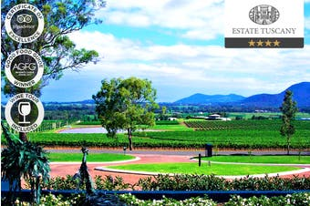 HUNTER VALLEY: 2 Nights Romantic Hunter Valley Escape at Estate Tuscany, Pokolbin NSW for Two