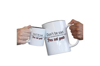 123T Novelty Funny Giant 2 Litre Mugs - Dont Be Sad Because Sad Backwards