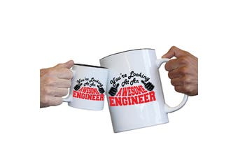 123T Novelty Funny Giant 2 Litre Mugs - Engineer Youre Looking Awesome