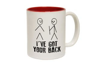 123T Funny Mugs - Ive Got Your Back - Red Coffee Cup