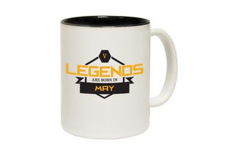 123T Funny Mugs - Legends May - Black Coffee Cup