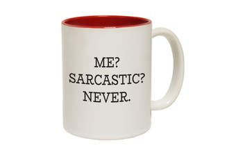 123T Funny Mugs - Me Sarcastic Never - Red Coffee Cup