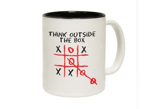123T Funny Mugs - Think Outside - Black Coffee Cup