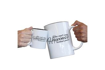 123T Novelty Funny Giant 2 Litre Mugs - You Cant Say Happieness Without Penis