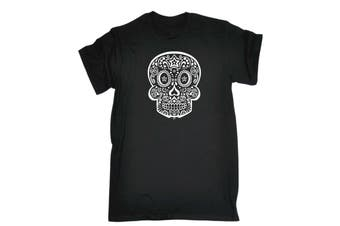 123T Funny Tee - Candy Skull Mens T-Shirt