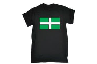 123T Funny Tee - Devon Flag Mens T-Shirt
