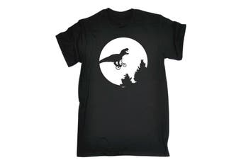 123T Funny Tee - Dino Across The Moon Mens T-Shirt
