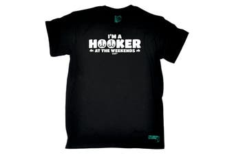 Drowning Worms Fishing Tee - Im A Hooker At The Weekends Mens T-Shirt