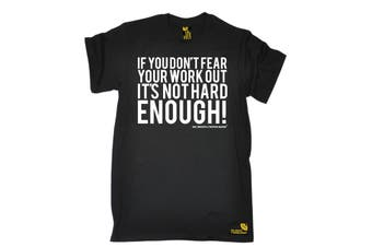 SWPS Gym Bodybuilding Tee - Dont Fear Workout Not Hard Enough Mens T-Shirt