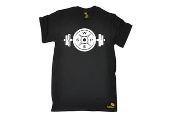 SWPS Gym Bodybuilding Tee - Weight Bar Plate Mens T-Shirt