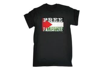 123T Funny Tee - Palestine Flag Mens T-Shirt