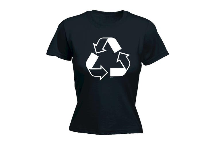 123T Funny Tee - Recycle - (XX-Large Black Womens T Shirt)