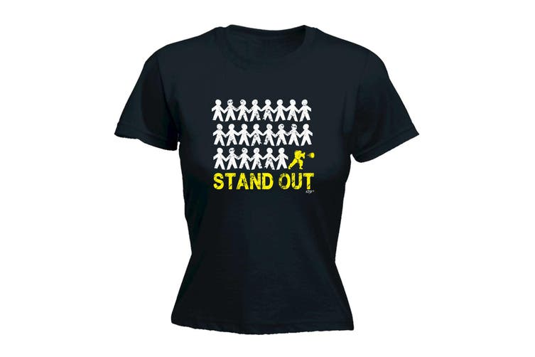 123T Funny Tee - Stand Out Figher - (X-Large Black Womens T Shirt)