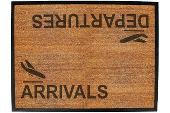 arrivals departures - Funny Novelty Birthday doormat floor mat floormat door personalised gift present new home christmas custom pet dog cat Entrance welcome office non slip