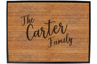 the family carter - Funny Novelty Birthday doormat floor mat floormat door personalised gift present new home christmas custom pet dog cat Entrance welcome office non slip