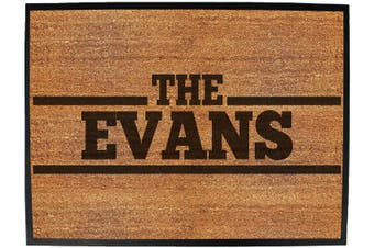 the surname evans - Funny Novelty Birthday doormat floor mat floormat door personalised gift present new home christmas custom pet dog cat Entrance welcome office non slip