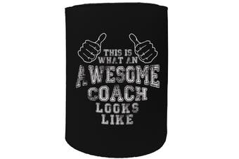 123t Stubby Holder - awesome coach - Funny Novelty