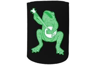 123t Stubby Holder - banjo frog - Funny Novelty