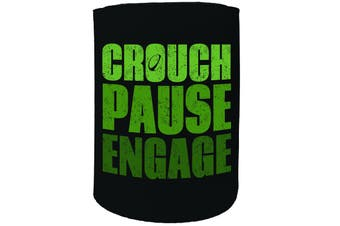 123t Stubby Holder - Crouch Pause engage - Funny Novelty