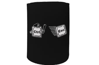 123t Stubby Holder - ctrl esc - Funny Novelty