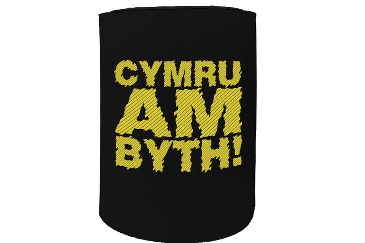 123t Stubby Holder - cymr am byth - Funny Novelty