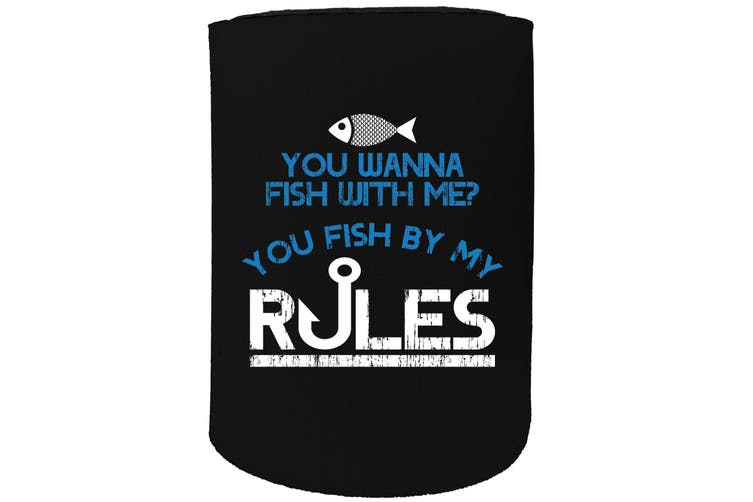 123t Stubby Holder - DW do you wanna fish with me sideA FISHING - Funny Novelty
