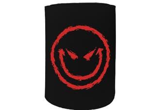 123t Stubby Holder - evil smiley - Funny Novelty