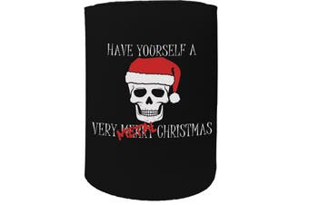 123t Stubby Holder - have yourself a metal christmas - Funny Novelty