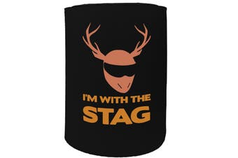123t Stubby Holder - im with the stag - Funny Novelty