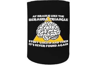 123t Stubby Holder - my brain is like bermuda triangle funny - Funny Novelty