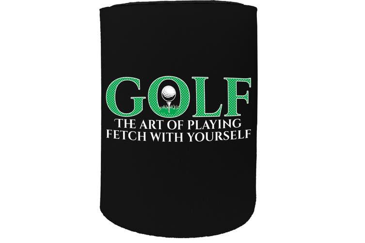 123t Stubby Holder - OOB golf the art fetch golfing - Funny Novelty