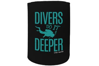 123t Stubby Holder - OW divers do it deeper SCUBA DIVING - Funny Novelty