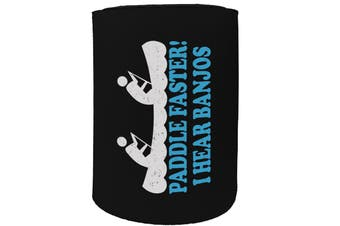 123t Stubby Holder - paddle faster - Funny Novelty