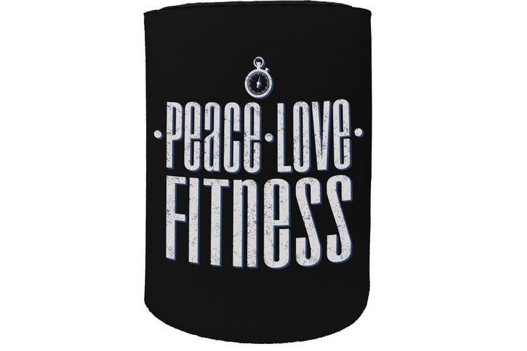 123t Stubby Holder - PB peace love fitness FITNESS RUNNING - Funny Novelty