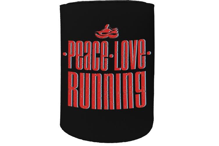 123t Stubby Holder - PB peace love running FITNESS RUNNING - Funny Novelty