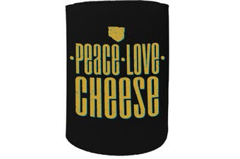123t Stubby Holder - peace love cheese - Funny Novelty