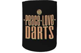 123t Stubby Holder - peace love darts - Funny Novelty