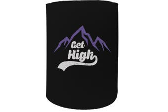 123t Stubby Holder - PM get high SKIING SNOWBOARDING - Funny Novelty
