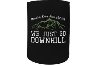 123t Stubby Holder - rltw mountain bikers down CYCLING BICYCLE BIKE - Funny Novelty