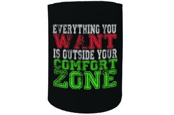 123t Stubby Holder - SWPS everithing outside comfort zone GYM BODYBUILDING FITNESS - Funny Novelty