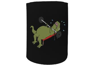 123t Stubby Holder - t rex hates bench pressing b - Funny Novelty
