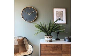 SCARLETT Charcoal 50cm Wall Clock by One Six Eight London
