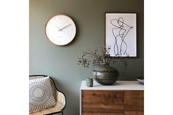 FREYA White 50cm Wall Clock by One Six Eight London