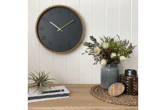 FREYA Charcoal 50cm Wall Clock by One Six Eight London