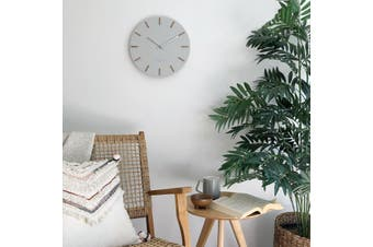IVY Cool Grey 35cm Silent Wall Clock by One Six Eight London