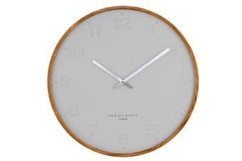 FREYA Cool Grey 50cm Wall Clock by One Six Eight London