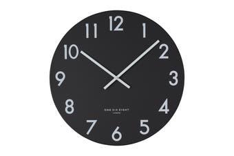 JACKSON Black 40cm Silent Wall Clock by One Six Eight London