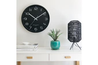CARTER Black 50cm Silent Wall Clock by One Six Eight London